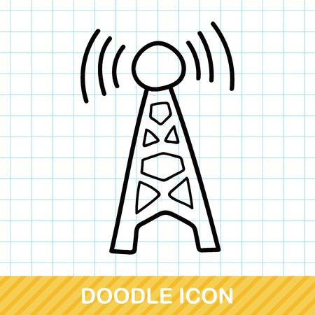 wireless: wireless doodle Illustration