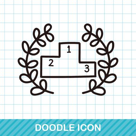 symbol sport: Podium doodle