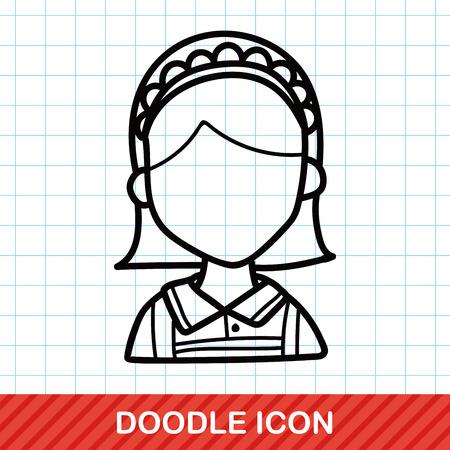 waitress: waitress doodle