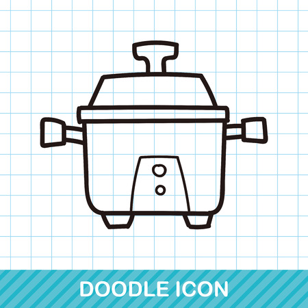 cooker: rice cooker doodle
