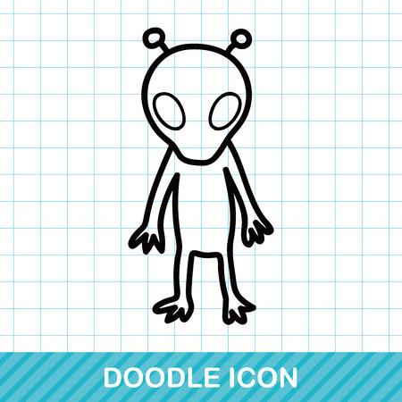 alien doodle