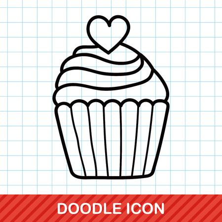 cup cake: cake doodle