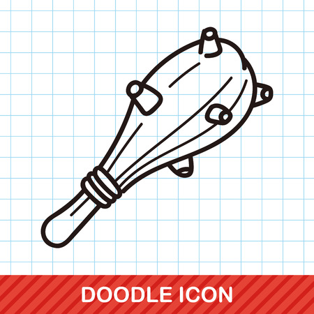 military and war icons: weapon hammer doodle