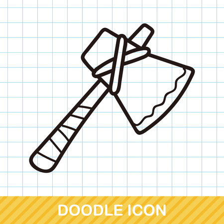 weapon: weapon axe doodle