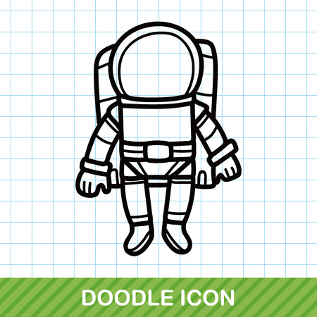 outer clothing: astronaut doodle Illustration