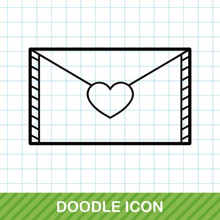 envelope icon: letter doodle