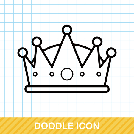 prince princess: crown doodle Illustration