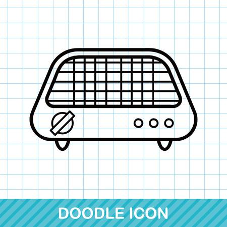 bakeware: Bakeware doodle Illustration