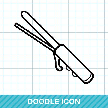 rulos: Bigudíes del doodle