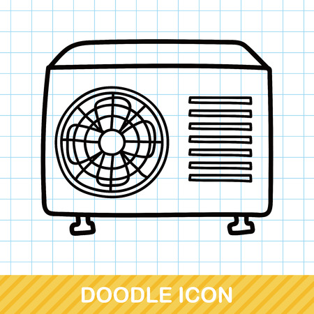 air conditioner: air conditioner doodle
