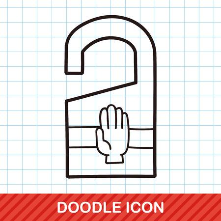do not disturb doodle Illustration