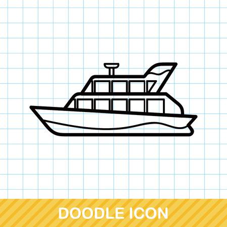 boat doodle 向量圖像