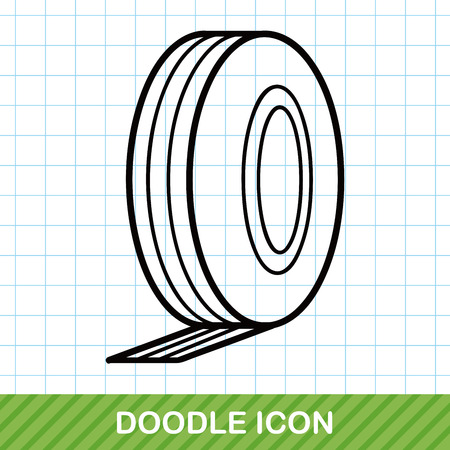quick drawing: Measuring tape doodle