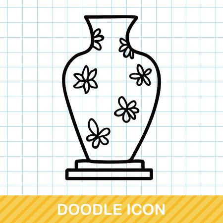 ceramics: Ceramics doodle Illustration