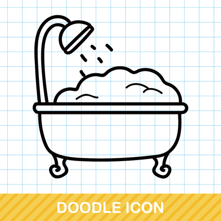 bathtub: bathtub doodle