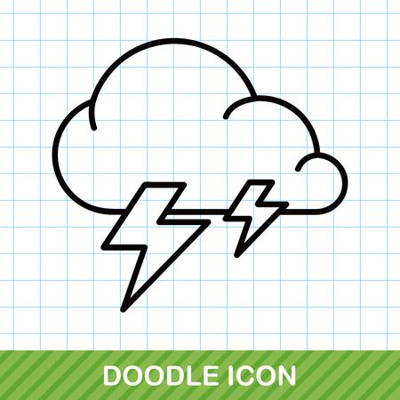 raindrops: weather cloud doodle