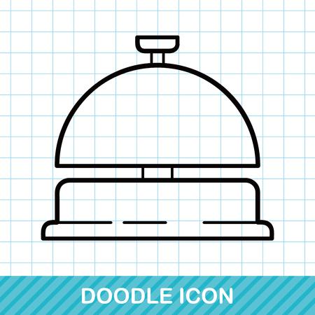 hotel bell: hotel bell doodle Illustration