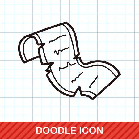 schrijfpapier doodle