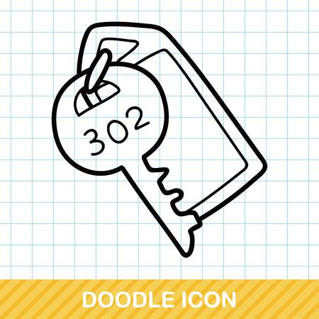 hotel key: hotel key doodle