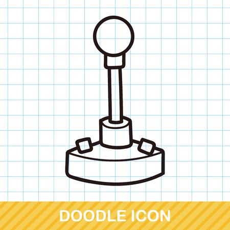 controller: game controller doodle Illustration