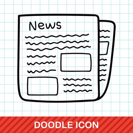 krant doodle Vector Illustratie