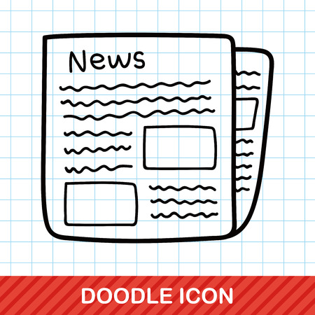 article icon: newspaper doodle Illustration