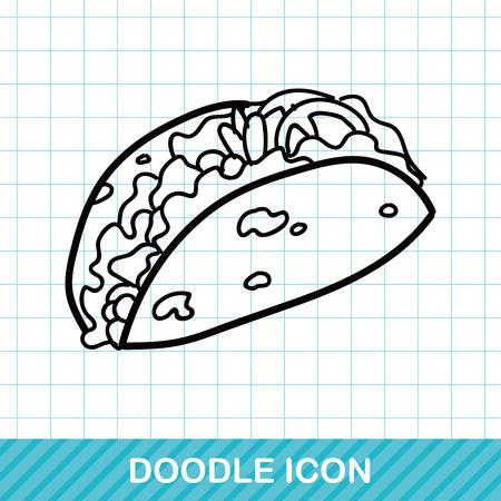 food art: sandwich doodle Illustration