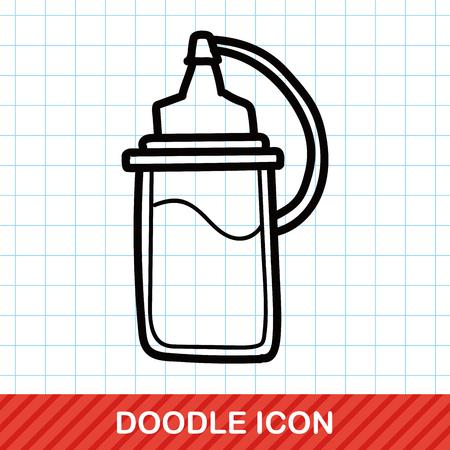 sauce: sauce bottle color doodle