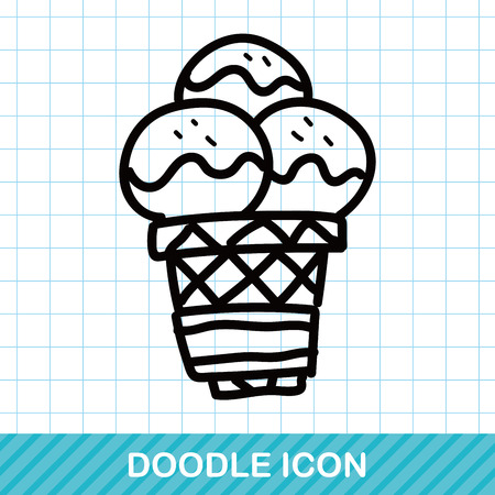 cream color: ice cream color doodle