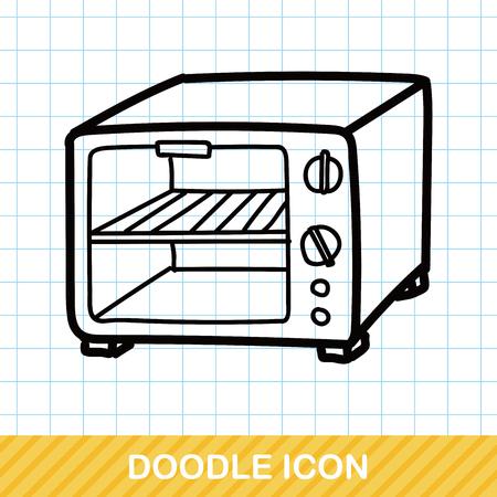 microwave: microwave color doodle Illustration