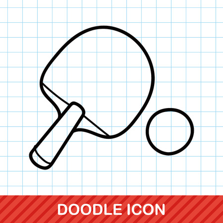 table tennis: Table tennis doodle