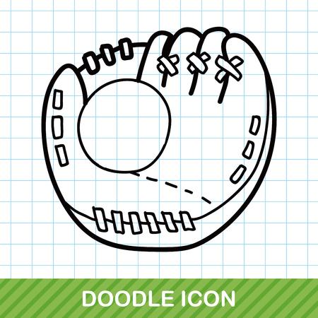 guante de beisbol: Guante de b�isbol del doodle