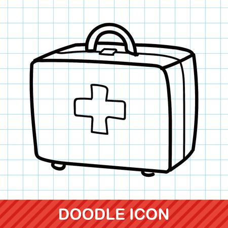 first aid kit: Kit de primeros auxilios del doodle