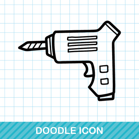 lowbrow: Electric drill color doodle