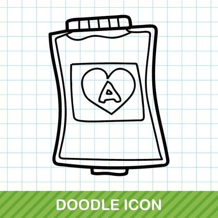 transfuse: blood bag color doodle