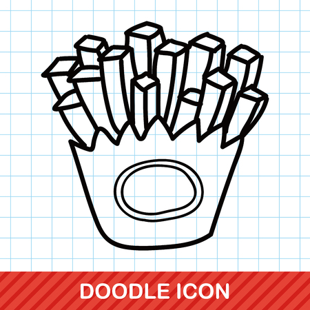 food art: french fries doodle