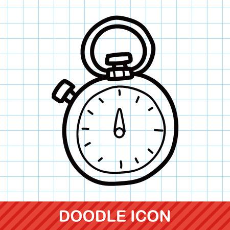 stopwatch color doodle