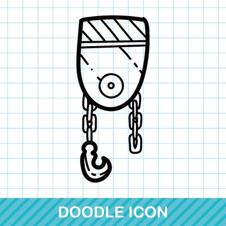 construction paper art: hook color doodle