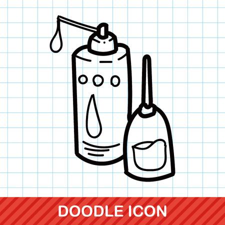 machine oil: machine oil color doodle