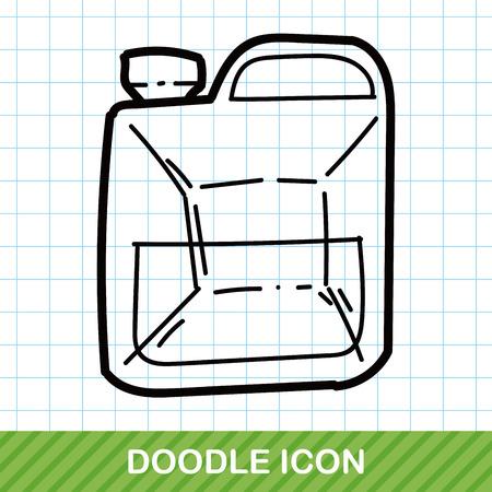 construction paper art: machine oil color doodle