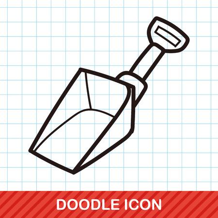shovel: Shovel color doodle