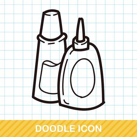 glue: glue color doodle Illustration