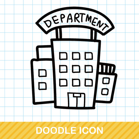store: department store color doodle