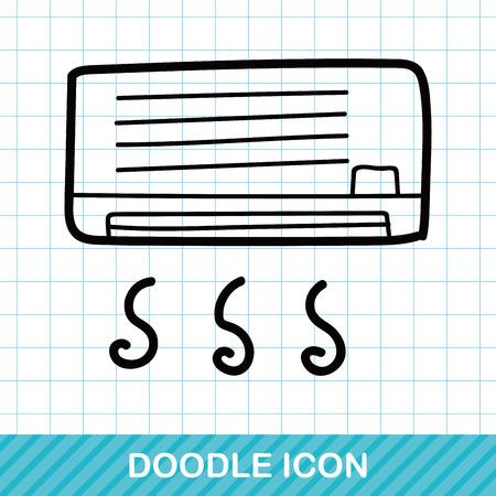 air conditioner: Air conditioner color doodle