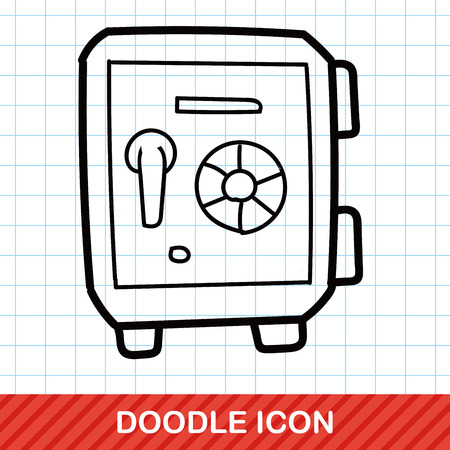 safety box: safety box color doodle Illustration
