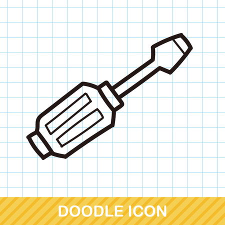 screwdrivers: Screwdrivers color doodle