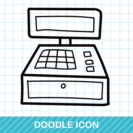 Cash register doodle