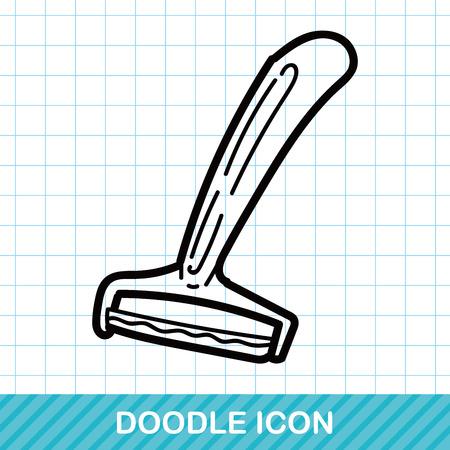 carpenter's bench: Plane iron color doodle