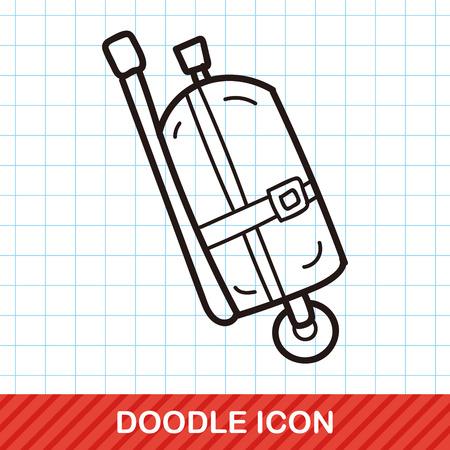 compressed air: oxygen cylinder doodle