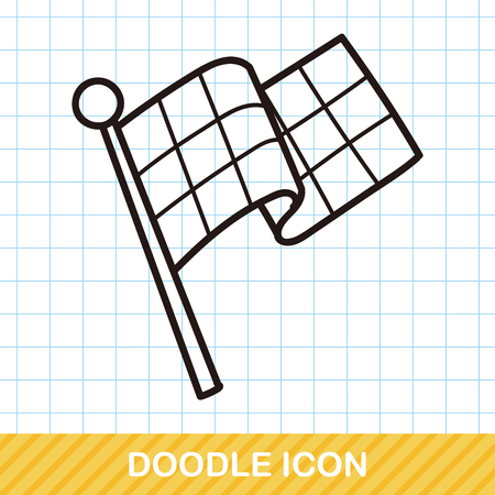 race flag: race flag doodle Illustration